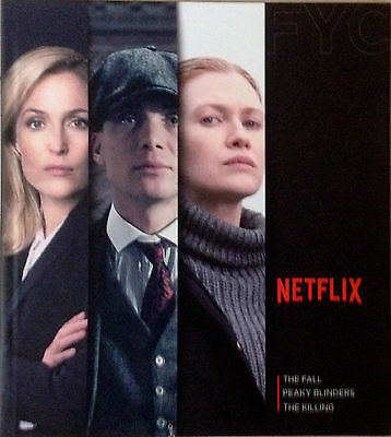 The Fall, Peaky Blinders, The Killing, FYC EMMY Promo 3 DVDs 2015