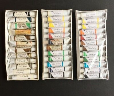 Nicole Quality Value Oil Paint Sets, 36, 12ml Tubes Student Grade, Same Day Ship