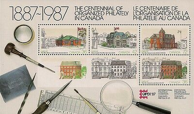Canada Stamps - Souvenir Sheet - CAPEX '87 : Post Offices #1125A - MNH