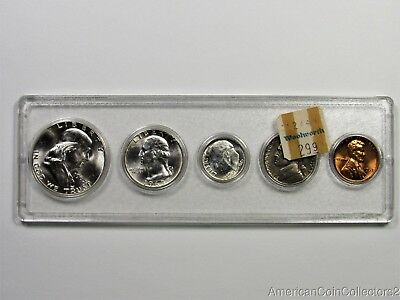1963 US Mint Set .50c  .25c .10c .05c .01c LOOK NO RESERVE SILVER | 11629