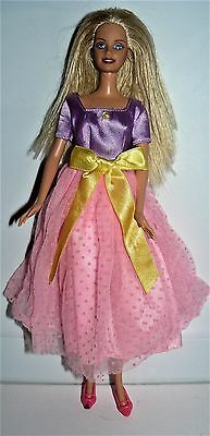 c343d4497bff Mattel 2000s Bended knee Blond Barbie doll in purple pink yellow dress    shoes
