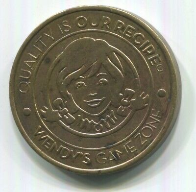 """Wendy's Game Zone in Georgia (Country) """"Quality is our Recipe"""" Fast Food Token"""