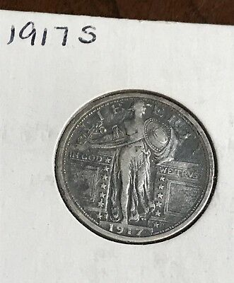 *NICE 1917 S Standing Liberty Quarter Old US Coin .99 Start
