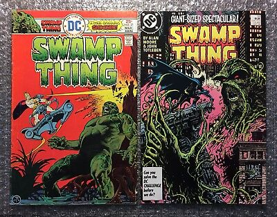 Swamp Thing #21 (SOLUS) & Swamp Thing #53 (BATMAN) DC Bronze Age/Copper Age LOT!
