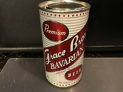 Grace Bros Bavarian (67-25) empty flat top beer can by Maier, Los Angeles, CA