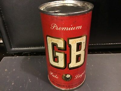 GB Pale Lager (67-35) empty flat top beer can by Grace Bros., Santa Rosa, CA