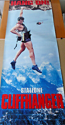 CLIFFHANGER Sly STALLONE 6 FT. movie poster VERY RARE !!!