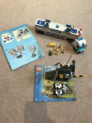 Lego City Police Command Centre Truck 7743 Complete With