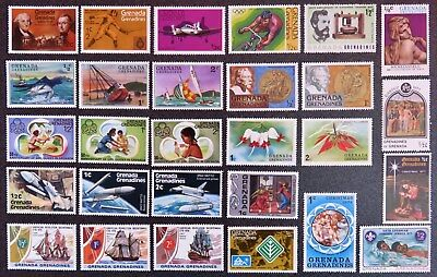 Grenada Grenadines Stamp Collection 28 Different Mint Stamps All Unhinged