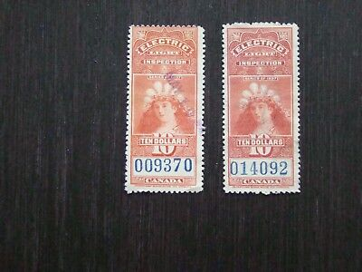 Canada Gas and Electric stamp FE17 lightly used with clear date