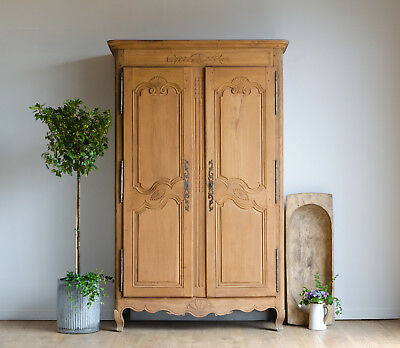 French Antique Late 18th Century Knockdown Armoire / Wardrobe / Linen Press