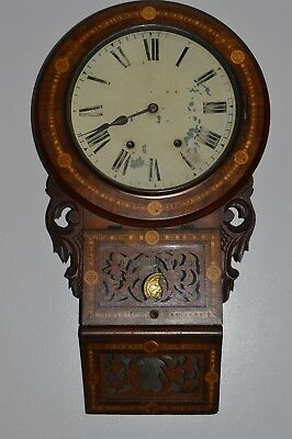 Antique Victorian American Wall Clock Jerome & Co.