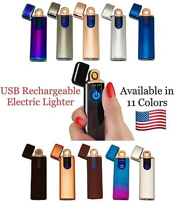 USB Electric Lighter Rechargeable Windproof Touch Fingerprint Flameless