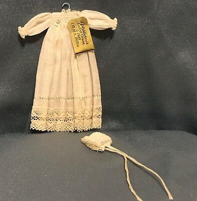 Precious~JANET MIDDLEBROOK~Handcrafted CHRISTENING GOWN DollhouseMiniature~1:12