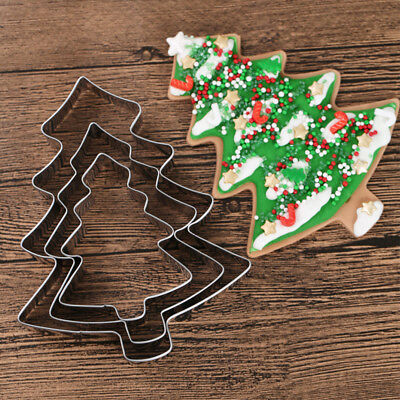 Christmas Tree Stainless Steel Cookies Cutter Fondant Cake Biscuit Pastry Mold
