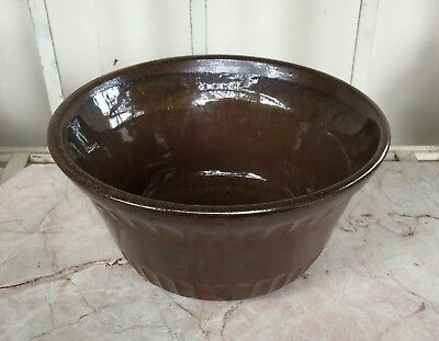 Vintage Bendigo pottery heavy bowl,signed KG