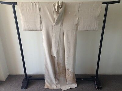 Gold Embroidered Silk Vintage Japanese Kimono Robe One of a Kind Hand Made