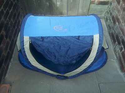 Baby's Sun Essentials Travel Cot,Sun Protector, Play Tent