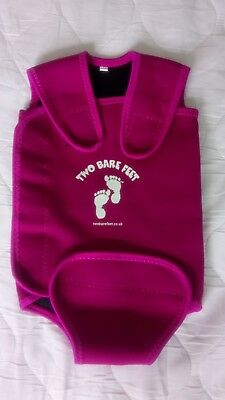 Two bare feet baby wetsuit wrap size Small