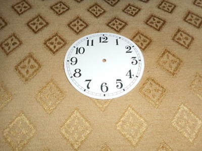 "Round Paper Clock Dial-2 1/2"" M/T-Arabic-Gloss White-Face/ Clock Parts/Spares"