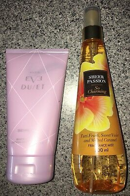 Avon Sheer Passion Fragrance Mist & Eve Duet Sensual Body Lotion