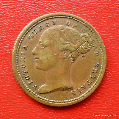 JOHN BROWN ODD FELLOWS ARMS TUNSTALL 2d TOKEN GOOD COLLECTABLE GRADE.