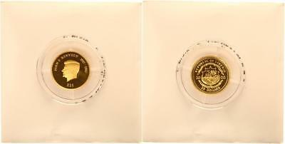 Liberia 25 Dollars 2000 - John F. Kennedy - PP in Kapsel - GOLD