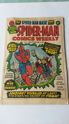 SPIDER-MAN COMICS WEEKLY NUMBER No 1 # 1 - 1973 Bronze Age - VG/Good condition