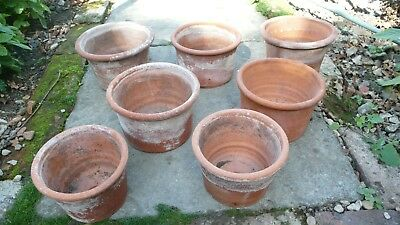 7 Pre-loved Weathered Terracotta Pots from Bessingby Pottery (Whichford style)