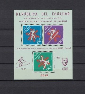 Ecuador 1966 Minr Block 28 A * / mh Olympia Grenoble perforated