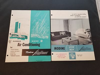 1959 & 1960 Modine Air Conditioners Commercial Bulletin With Specs Racine Wisc