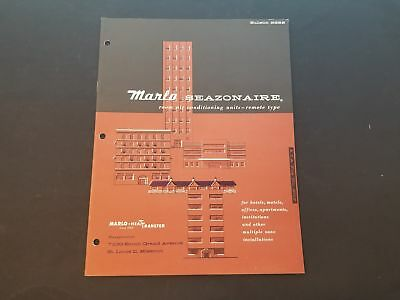1958 Marlo Seazonaire Room Air Conditioning Units Product Bulletin Nice