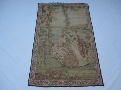 Old French / Belgium Tapestry Wall Hanging - 150 x 94 cm ( 4561 )