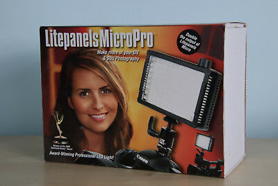 Litepanels MicroPro with Sony rechargeable batteries and charger