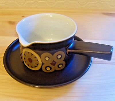Denby Arabesque Pattern  Gravy Boat & Underplate