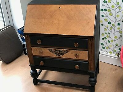 Restored/painted Antique Desk Fall Front Bureau