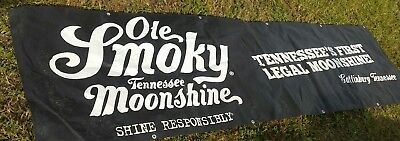 Moonshine ole smoky tennessee 10ft banner advertising sign liquor. man cave