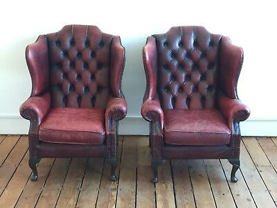 Chesterfield Armchairs - Pair