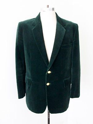VGC Vtg 70s SUPERFLY Dark Green Velvet Disco Pimp Blazer Jacket Sport Coat 42