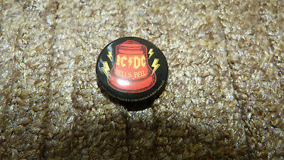 Vintage Ac/dc Hells Bell Heavy Metal Rock Band Badges Pin Pinback Button