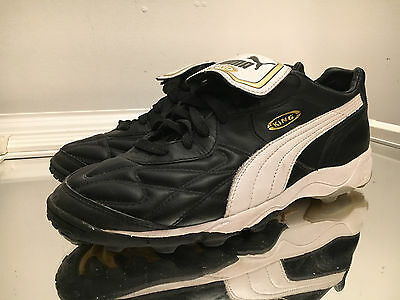 d2cbe0d1a60 Puma King Cell Allround Turf Football Mens Black Wht Gold Soccer Shoes Size  9