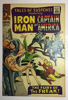 Tales Of Suspense #75 FN+ 1965 IRON MAN & Captain AMERICA THE FURY OF THE FREAK