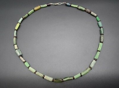 Ancient Egyptian Late Period glass bead necklace C. 664 - 332 BC