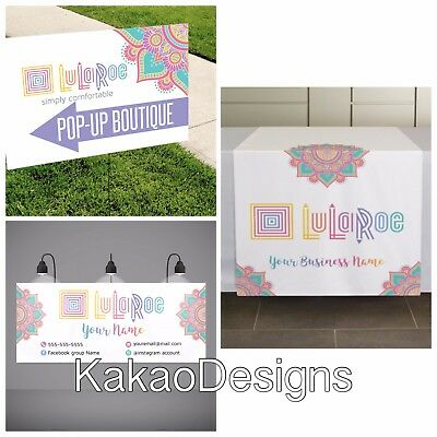 Lularoe - Vendor Show Set - Printed -Banner, Yard Sign and Table runner