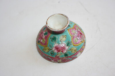 19th Century Antique Chinese Porcelain Hand Painted Single Lid for Jar / Vase