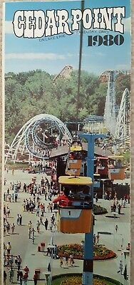 1980 Cedar Point Amusement Theme Park Brochure Pamphlet Gemini