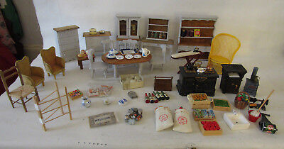 NEW DOLLS HOUSE FURNITURE HUGE BUNDLE KITCHEN DINING ACCESSORIES SCALE 1:12 r£90