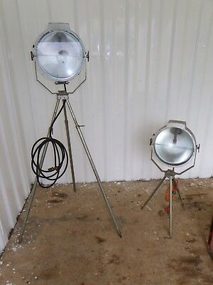 1 x Vintage Industrial Gas Flood Light with Stand Vintage Gas Lamp