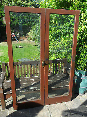 Wooden French Doors Double Glazed 1100mm X 1980mm 20000