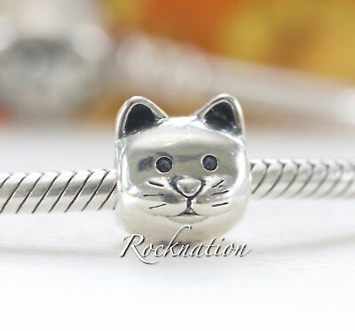 New! Authentic Pandora Sterling Silver Charm Meow Cat Bowl 791716Cz